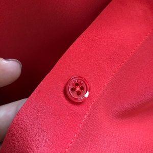 Equipment Tops - Equipment colarless silk blouse S